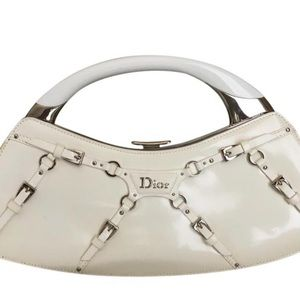 Christian DiorParis White Patent Leather Bag,mint